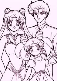 Sailor Moon Coloring Pages For Young Girls