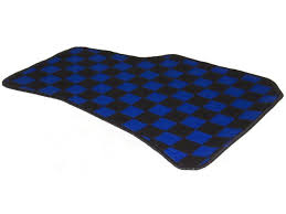 Frs Checkered Floor Mats by Dmax Front Checkered Floor Mats Blue Black Nissan S13 S14