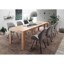 esszimmer massivholztisch den haag 119 aus eiche massiv bxhxt ca 160 280x75x90 cm