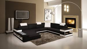 canap noir et blanc cuir noir blanc