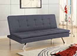 primo jive contemporary charcoal klik klak sofa bed sleeper lounger