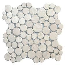 Hover Show White Moon Mosaic Tile Big