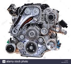 100 Diesel Truck Engines Modern Turbo Diesel Truck Engine Isolated On White Background Stock