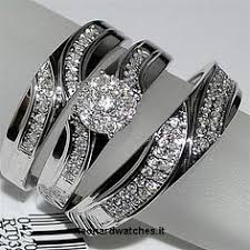 Nice 3 Pcs Hers Stainless Steel & His Tungsten Wedding Engagement