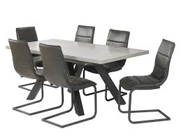 Dining Table And 6 Seattle Chairs Grey