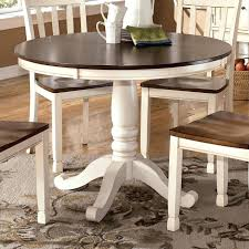 Round Pedestal Kitchen Table Signature Design By Two Tone Round