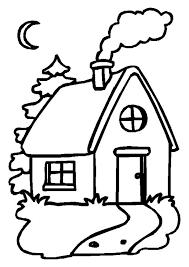 coloriage maison un soir de noel