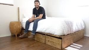 diy platform bed with storage u2014 modern builds