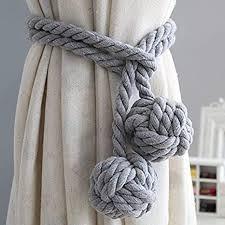 1 paar raffhalter für vorhänge bommel strick vorhang seil zange schnalle für vorhänge doppelt geflochten dekorativ raffhalter kordel