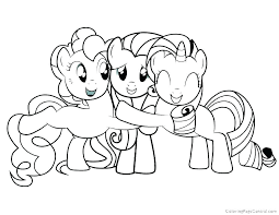 Princess Pony Coloring Pages Printable My Little Ponies