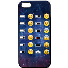 iPhone 5 5s Phone case Emoji Face battery funny Space funky