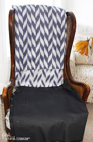 Recaning A Chair Back by Learn How To Upholster A Chair Wingback Chair Makeover