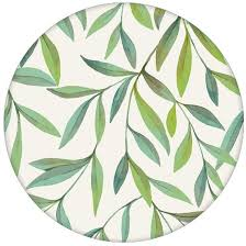 helle schöne weiden tapete magic willow mit blätter dekor angepasst an farrow and wandfarben