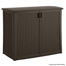 Home Depot Storage Sheds suncast 97 gal resin outdoor patio cabinet bmoc4100 the home depot