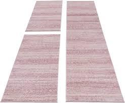 bettumrandung läufer teppich kurzflor geometrisch türkis