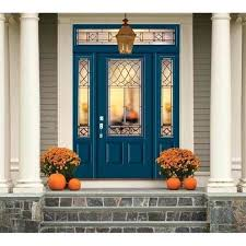 Entrance Door At Lowes 3 4 Lite Smooth Fiberglass Entry Door Unit