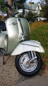 Silver Vintage Piaggio Scooter