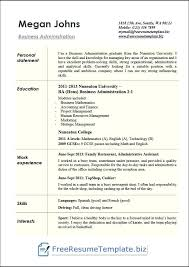 Business Administration Resume Examples In Word Sample Cv Student