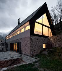 Pitched Roof House Designs Photo by Extraordinary House Design With Extraordinary Views Of Pyrenees