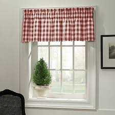 Bed Bath And Beyond Curtains And Valances by Classic Check Bath Window Curtain Valance In Red Bed Bath U0026 Beyond