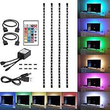 200cm 5v 5050 rgb led light colour changing usb tv pc