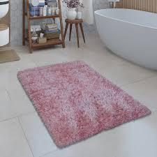 moderne badematte badezimmer teppich shaggy kuschelig weich