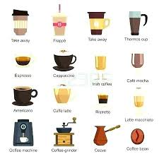 Types Of Coffee Machines Maker Type Makers Vector Set Different