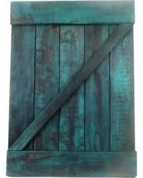 Amazing Winter Savings on Rustic Turquoise Barn Door Wall Decor