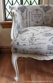 French Script Chair Cushions by Restyled Vintage French Script Chair Beautiful Effect Layering