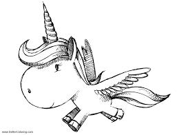 Alicorn Coloring Pages Unicorn Pegasus Free Printable