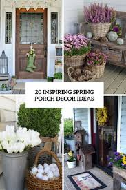 20 Inspiring Spring Porch Decor Ideas