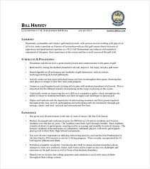 College Golf Resume Professional Best Free Template Solutions Of