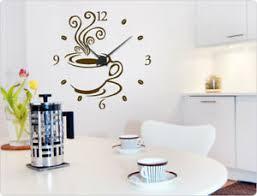 details zu wandtattoo uhr kaffee wandaufkleber wanduhr küche wanddeko küchenuhr
