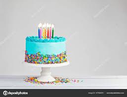 Blue Birthday Cake — Stock © juliannafunk