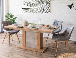 tischgruppe säulentisch arthur artisan eiche 4x stuhl thea grau expendio
