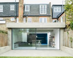 bureau de change 11 concrete extension with waffle roof added to residence by