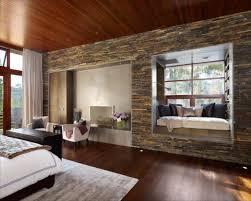 07 Modern Bedroom Design With Stone Wall Decor WHG
