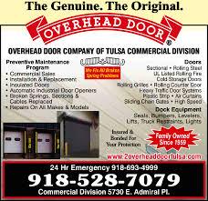 Overhead Door pany of Tulsa mercial Division 5730 E Admiral