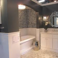chic and creative bathroom alcove ideas tub design tile storage
