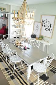 Black And White Farmhouse Halloween Dining Room Simple Ways To