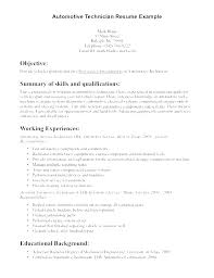Auto Mechanic Resume Template Technician Sample For Vet Tech Samples Automotive