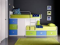 wooden bunk beds with movable stairs and trundle kids bedrooms