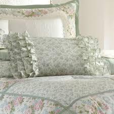harper celadon floral block comforter bedding by laura ashley