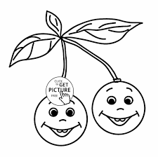 Coloring Pages Kids Fruit Pear