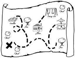 Treasure Map Clipart Black And White ClipartXtras