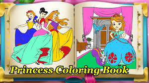 Disney Princess Coloring Book Game For Kids