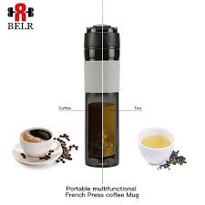 350ML Coffee Tea Water Bottles Camping Equipment Portable French Press Filter Pot Dripper Thermos