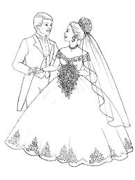 Prepare To Throw Flower Bouquet In Wedding Coloring Page