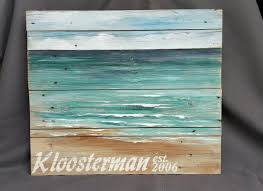 Personalized Beach Painting Pallet By TheWhiteBirchStudio