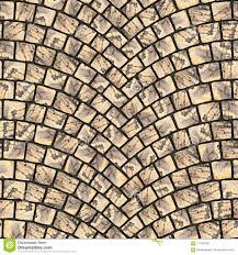 Cobblestone Pavement Street With Arched Pattern Seamless Tileable Repeating Square 3D Rendering Texture